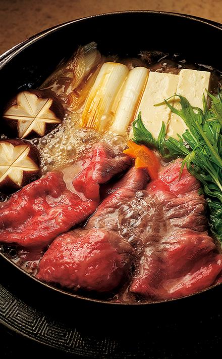 雅山ガーデンの米沢牛特選塩すき焼き