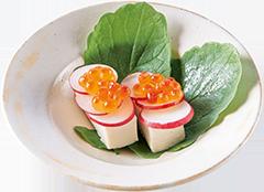 塩豆腐のカナッペ