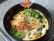 にらと桜海老の炒り卵