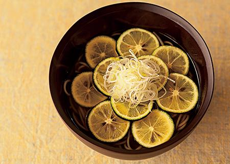 酢橘(すだち)蕎麦
