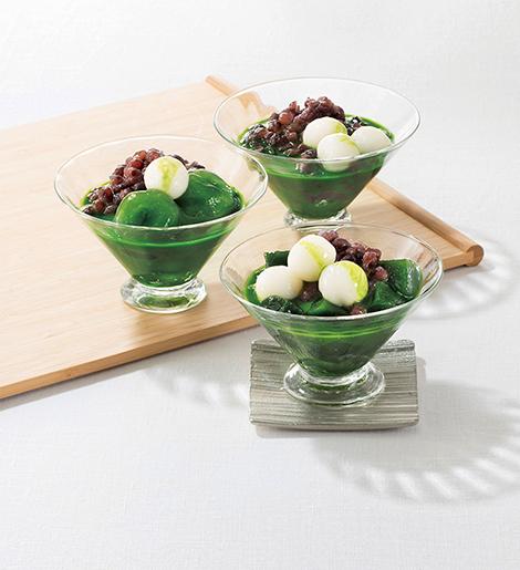 〈京都/ 東山茶寮〉宇治抹茶冷やしぜんざい3種の風味