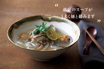 適量のスープがうまく麺と絡みます