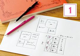 メニューを決めて詰め方の設計図を描く