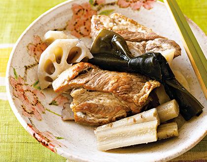 スペアリブと根菜の塩煮