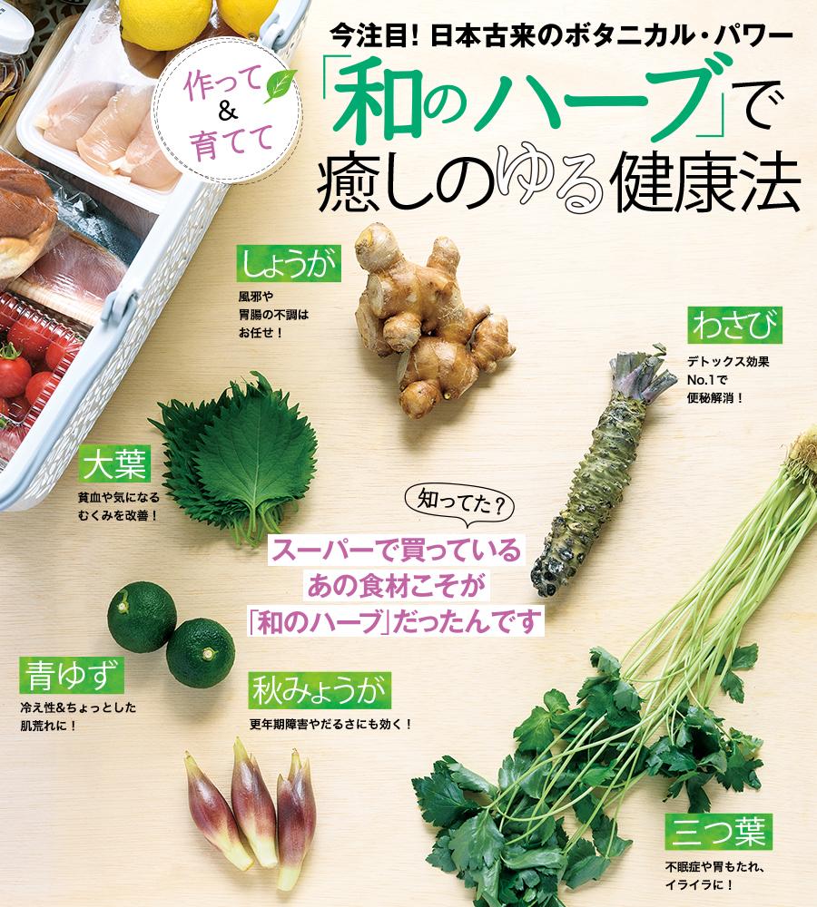 今注目!日本古来のボタニカル・パワー「和のハーブ」で癒しのゆる健康法