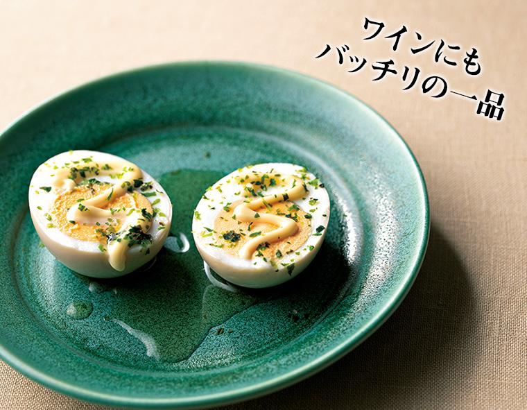 卵の青のりマヨのせ