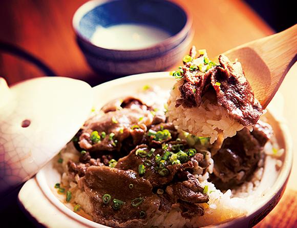 肉匠堀越の黒毛和牛タンの炊き込みご飯