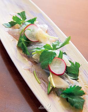 鮮魚のお刺身サラダ仕立て