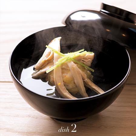 銀杏と小海老の真薯椀