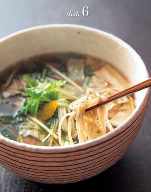 湯葉と水菜の蕎麦