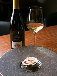牡蠣のカリフラワープリュレ生クリーム白ワイン仕立て