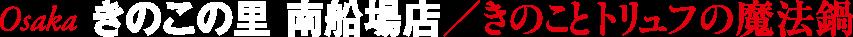 Osaka きのこの里 南船場店/きのことトリュフの魔法鍋