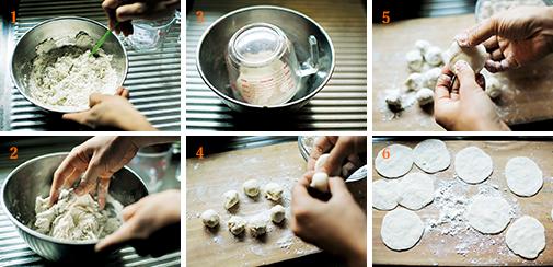 餃子の皮の作り方