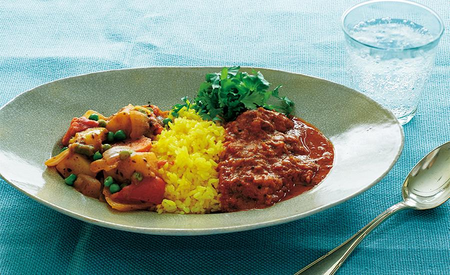 トマトヨーグルトチキンカレー&野菜のカレー