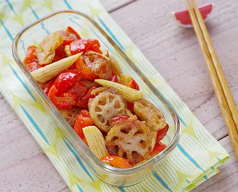 れんこんと彩り野菜の甘酢サラダ