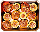 カラフル野菜の肉詰め