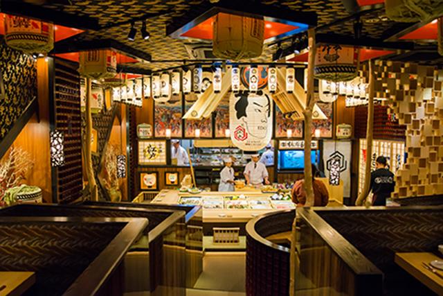10月27日オープンの新店舗は 江戸の風情あふれる劇場型寿司店