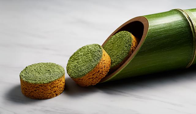 放置竹林問題に食べてアプローチ 竹と笹を味わうガレット