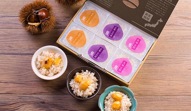 日本各地の旬を栗ごはんに 新栗を堪能する食べ比べセット